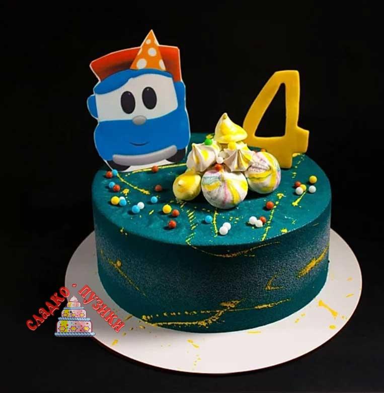 Детский торт тачки 2