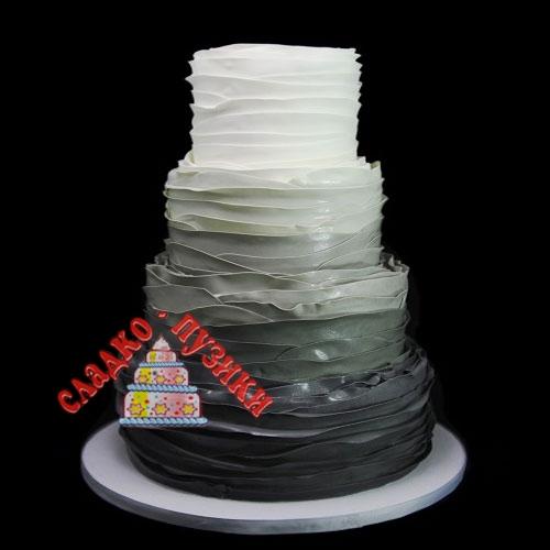 Свадебный торт шелк