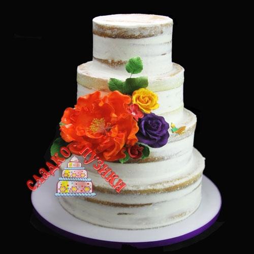 Свадебный торт цветы