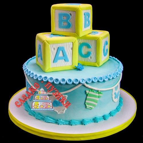 Детский торт кубики