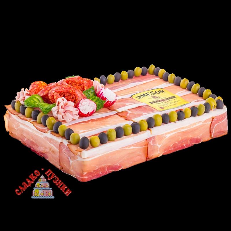 Соленый торт «Бекон»