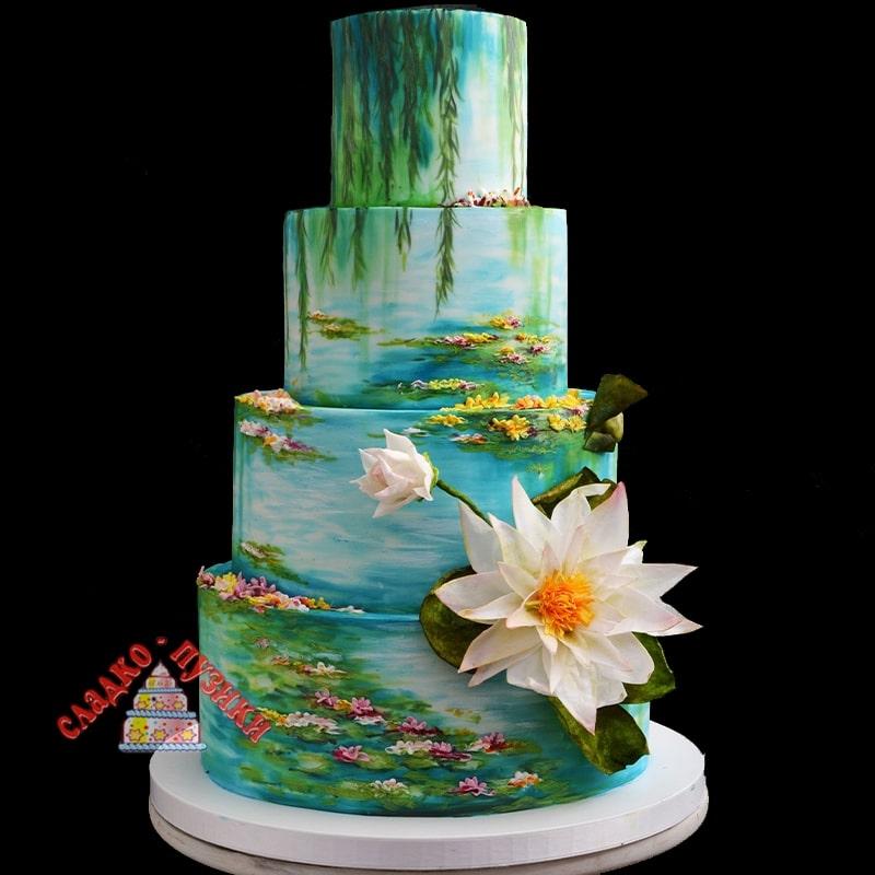 Свадебный торт Природа
