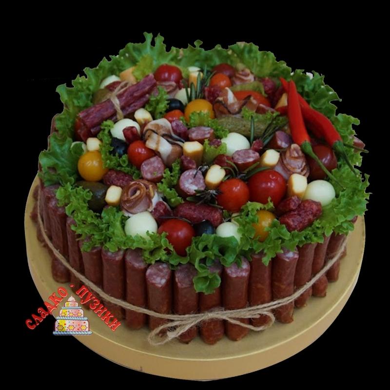Соленый торт «Поле»
