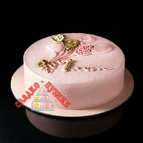Детский торт розовый