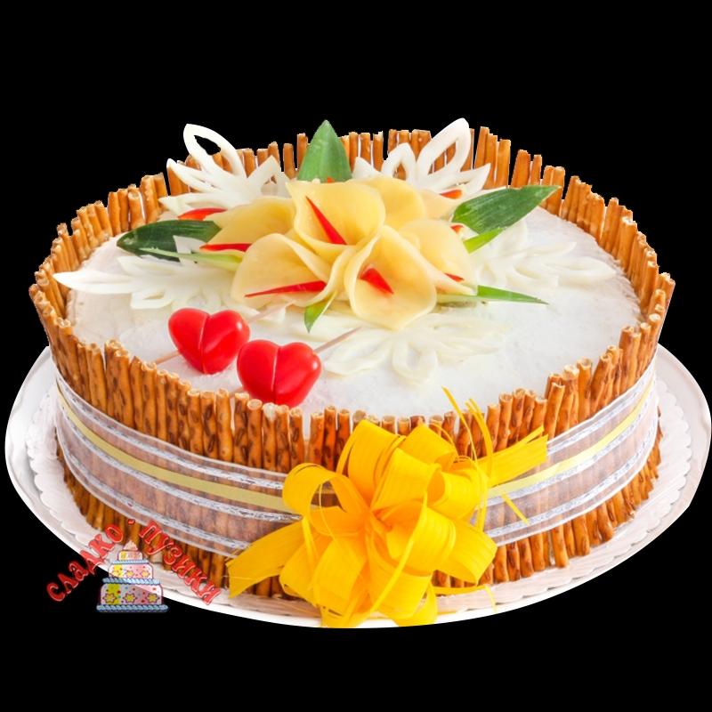 Соленый торт «Сердце»