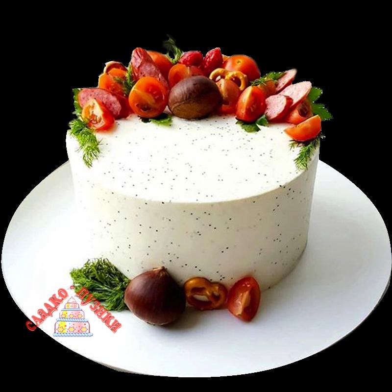 Соленый торт «Белый»