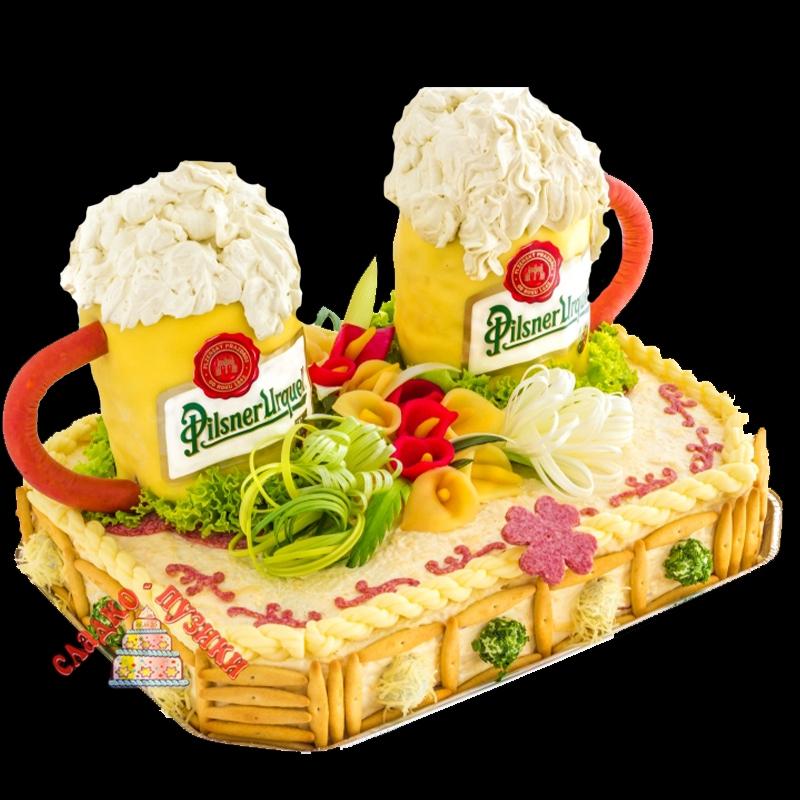 Соленый торт «Под пиво»