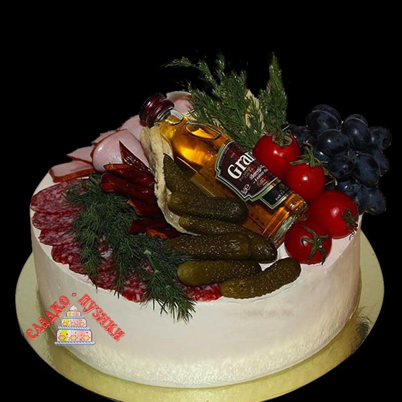Соленый торт «Поляна»