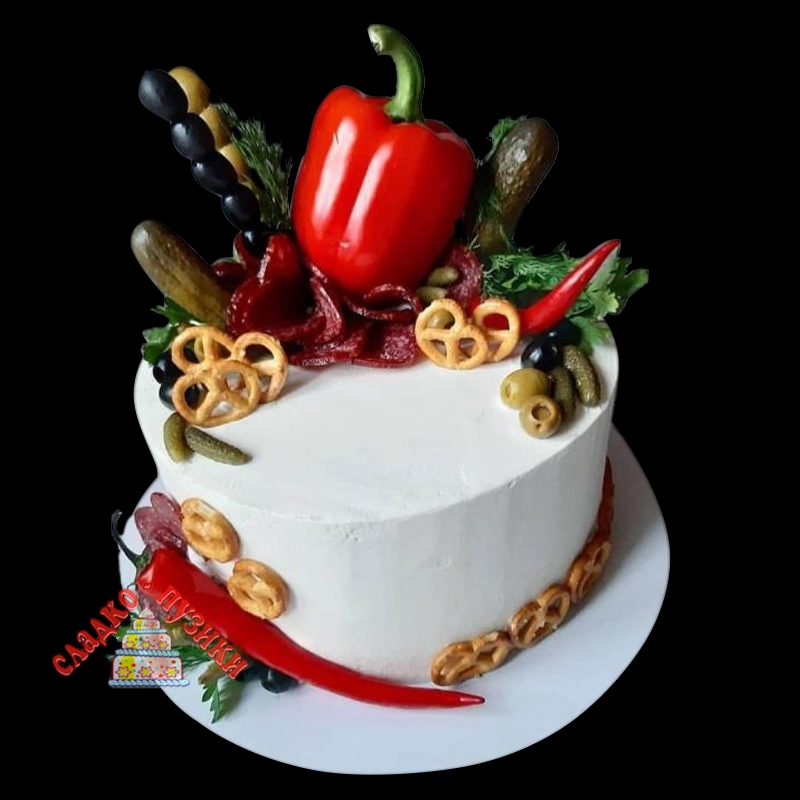 Соленый торт С перчиком